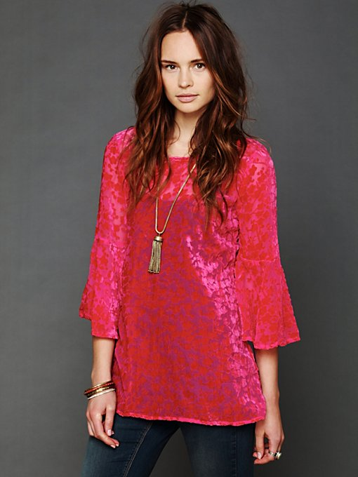 Gypsy Junkies Noir Velvet Tunic in tunics