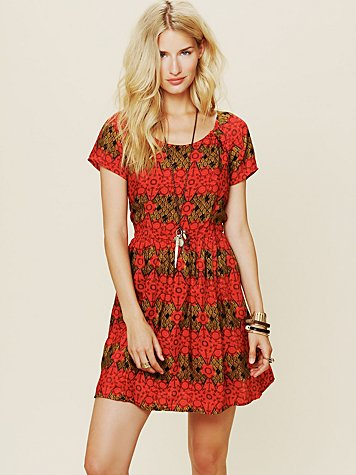 Free People Printed House Dress