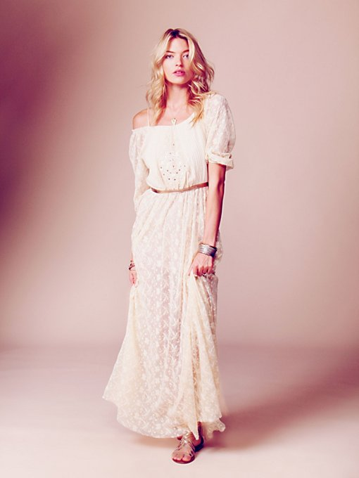 Free People Ana's Limited Edition White Summer Dress in Floral-Dresses