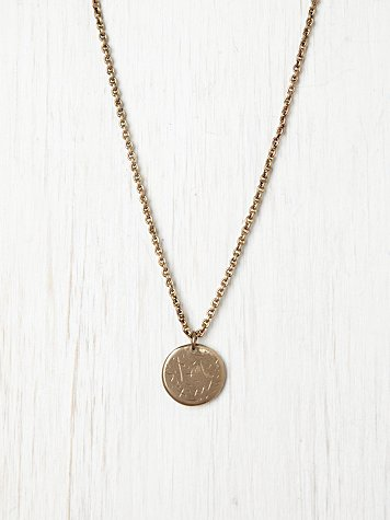 Annie Costello Brown Star Medallion Necklace