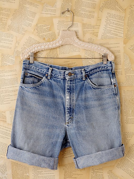 Free People Vintage Longer Denim Cutoffs in vintage-jeans