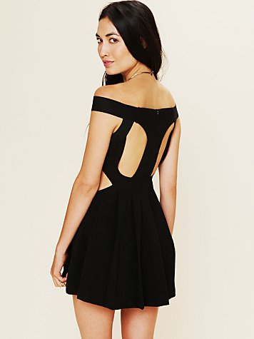 Three Floor Sibling Bandeau Skater Dress