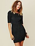 Long Sleeved Textured Bodycon