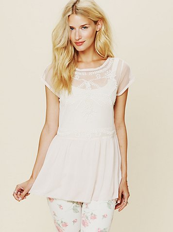 Free People Beaded Fancy Tunic