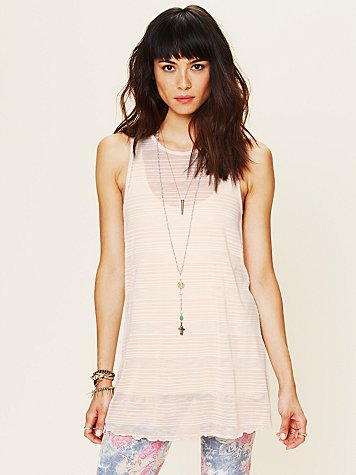 Free People Cross Me Striped Tunic