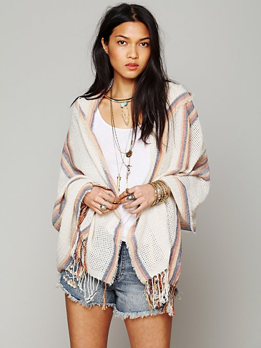 Hooded Poncho in whats-new-shop-by-girl