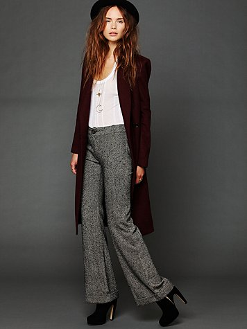 Free People Tailored Herringbone Flare