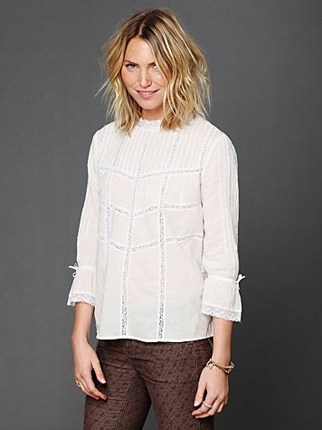 Free People Lace Crossroads Blouse