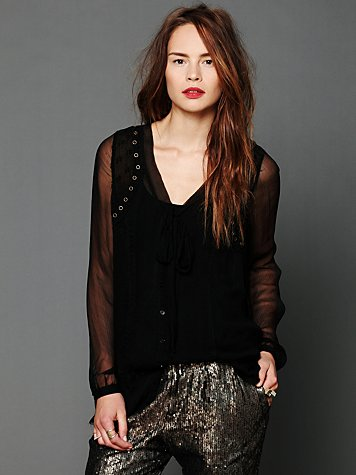 Free People Ginger Tie Top