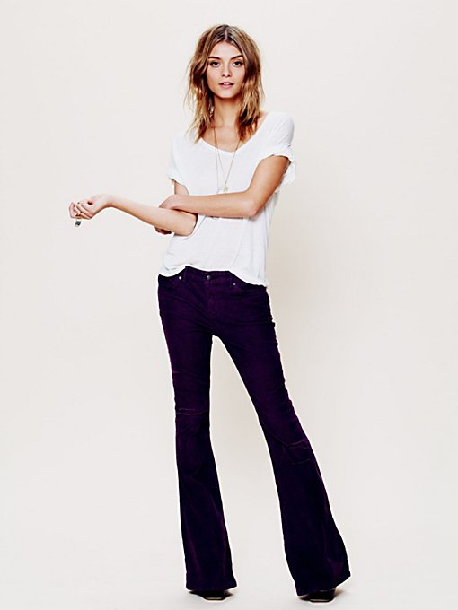 Free People FP Cord Destructed Flare in wide-leg-pants