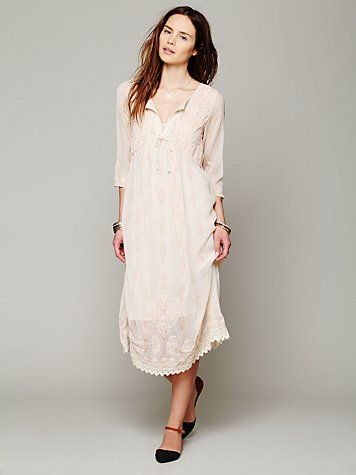 Free People Gauzy Georgette Dress