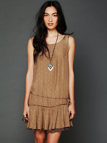 Free People Metallic Jacquard Candy Dress