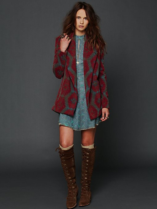 Changing Patterns Wool Swing Coat