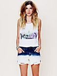 Dip Dye Denim Cutoffs