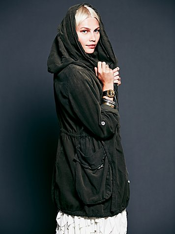 Twice Zipped Hooded Jacket