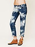 Bleach Splatter Boyfriend Jean