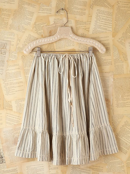 Free People Vintage Striped Midi Skirt in vintage-skirts