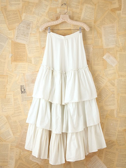 Free People Vintage Long Tiered Skirt in vintage-skirts