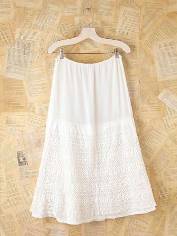 Free People Vintage Long Tiered Skirt