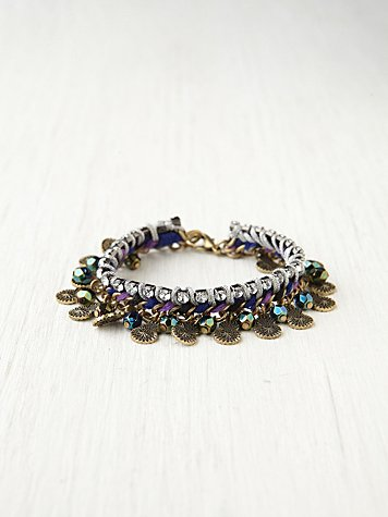 Free People Mixed Media Sparkle Bracelet