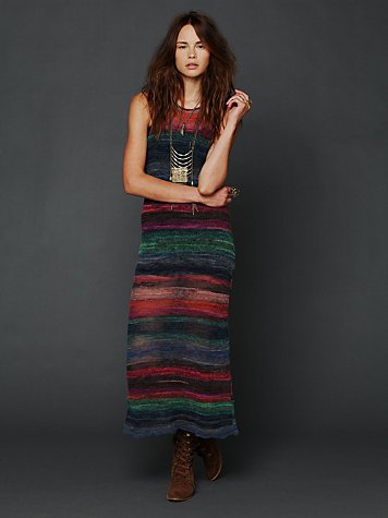 Free People Striped Maxi