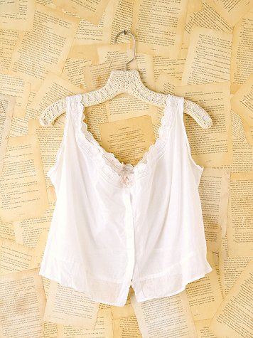 Free People Vintage Cotton Eyelet Tank