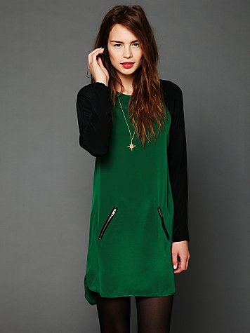 David Lerner Color Block Raglan Dress