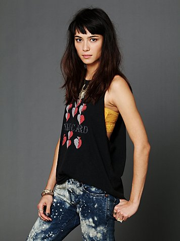 Free People Crew Neck Graphic Tank
