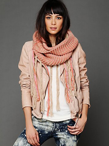 Loop Knit Fringe Scarf at Free People from freepeople.com