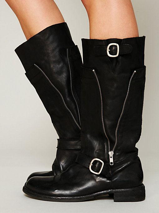 Officine Creative Sutton Zip Mid Boot in Knee-High-Boots
