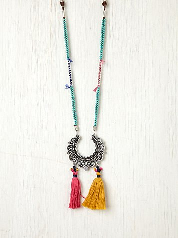 Free People Crescent Tassel Necklace