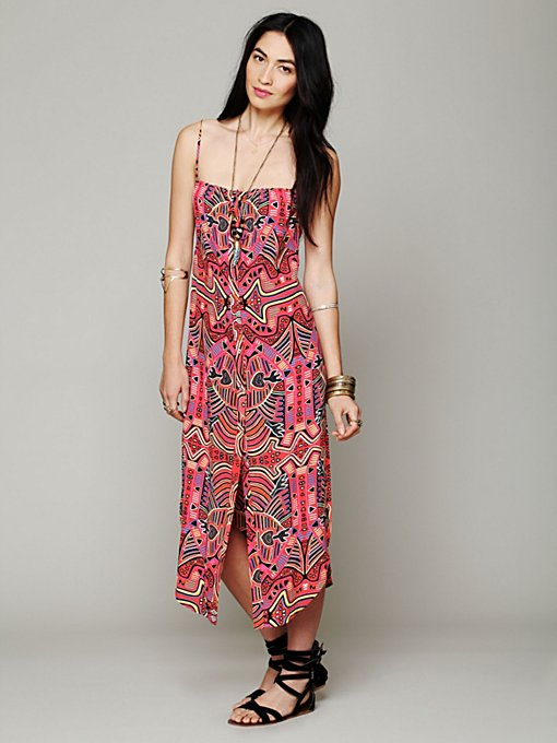 Mara Hoffman Mola Buttondown Tank Dress in Beach-Dresses