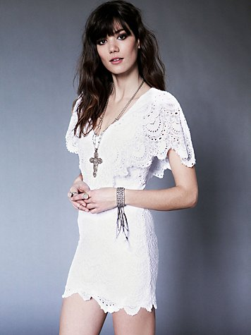 Nightcap  Spanish Lace Poncho Dress
