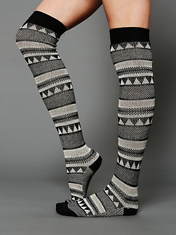Mountain Peaks Tall Sock