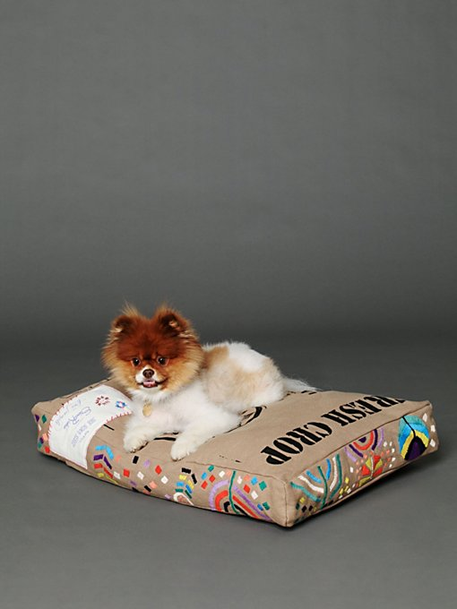 See Scout Sleep Embroidered Coffee Sack in Pet-Beds