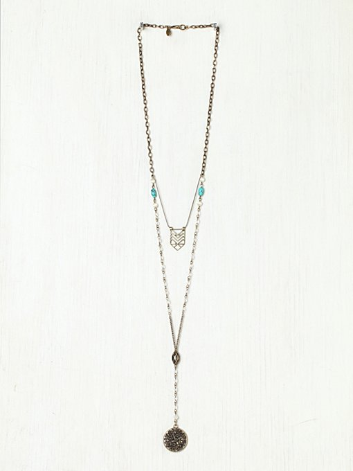 Free People Double Layer Rosary in bib-necklaces
