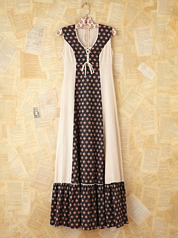 Free People Vintage Floral Sac Feed Dress