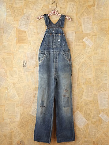 Free People Vintage LEE Denim Overalls