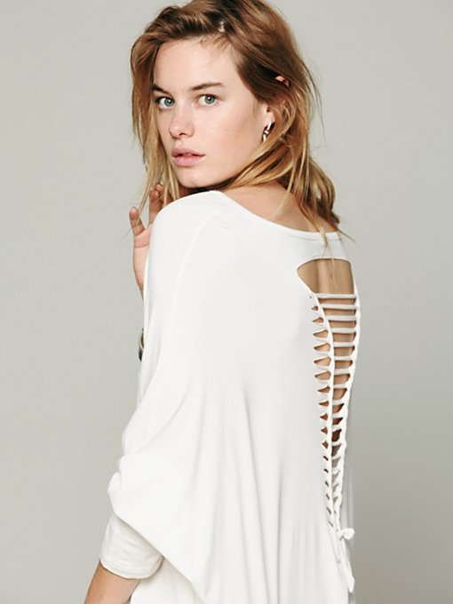Gypsy Junkies Axel Caplet Boxy Long Sleeve Tee in knit-sweaters