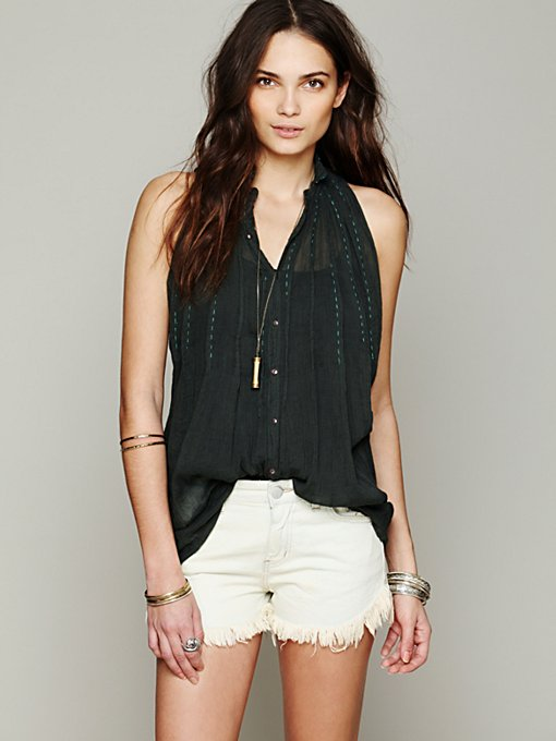 Free People FP ONE In Dreams Buttondown in blouses-2