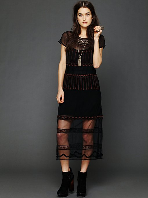 Free People Neon Lights Dress in black-maxi-dresses