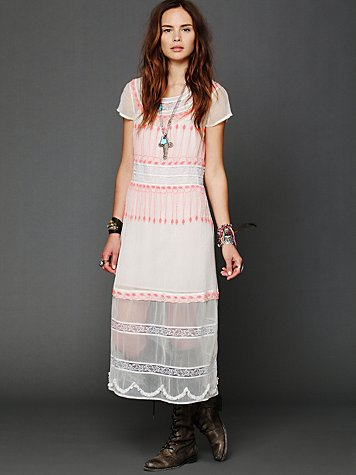 Free People Neon Lights Dress
