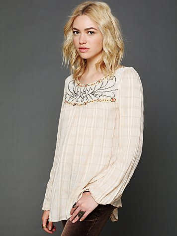 Free People Balkan Dreams Woven Top