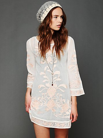 Intimately Embroidered Mesh Tunic Slip