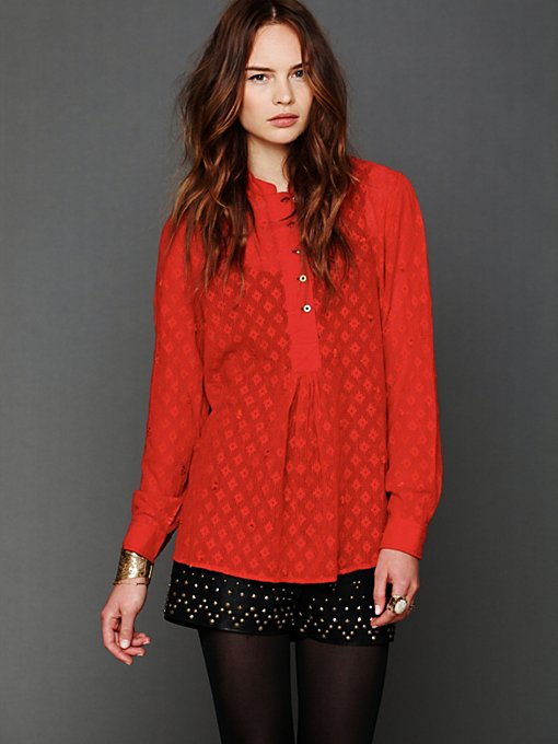 FP New Romantics Dotted Lines Pullover in sale-sale-tops
