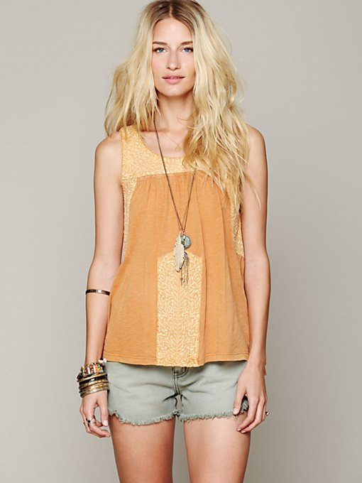 Free People Rhiannon Embroidered Tank in beach-clothes