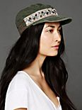Embellished Military Cap