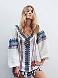 All Roads Embroidery Double V Tunic