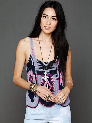 Free People Pop Color Pattern Tank