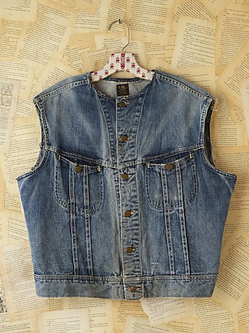 Free People Vintage Lee Denim Vest